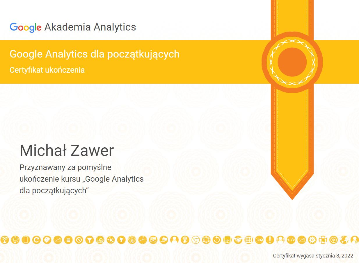 certyfikowany specjalista google analytics