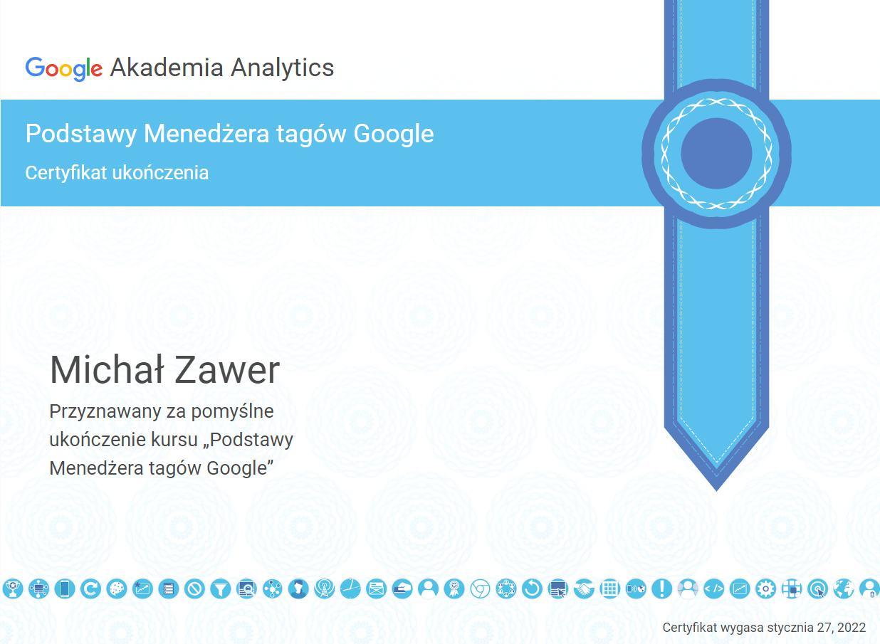 specjalista menedzer tagow google