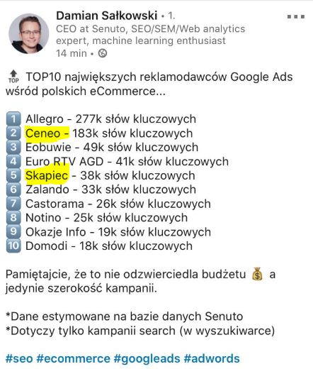 senuto wyniki google ads